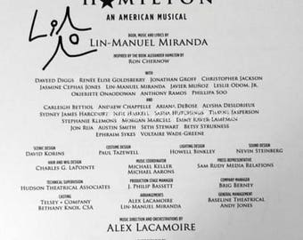 Hamilton Musical Broadway Signed Sheet Music Autographed by Lin-Manuel Miranda