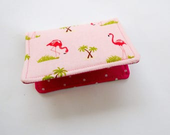 Flamingos Mini Wallet Business Card Case Fabric Pocket Wallet