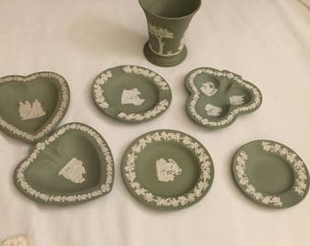 Sage Wedgewood China Seven Pieces