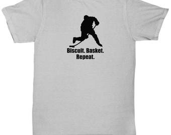 Ice Hockey Biscuit. Basket. Repeat. Funny Shirt Gift Sarcastic Player Shot Shooting