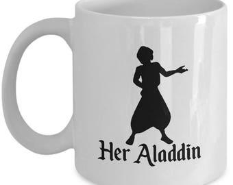 Disney Her Aladdin Gift Mug His Jasmine Magic Carpet Coffee Cup Couple Love Gifts