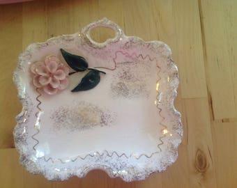 Pink flower dish