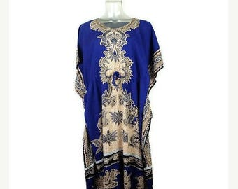 ON SALE Vintage Indonesian  Ethnic Printed  Rayon  Dress from 1980's*