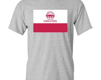 Chula Vista City Flag T Shirt - Sport Grey