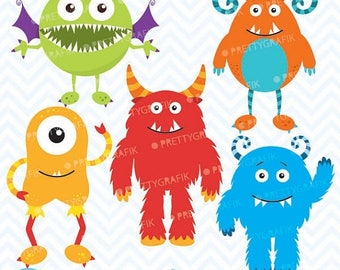 80% OFF SALE monster clipart commercial use, vector graphics, digital clip art, digital images - CL546