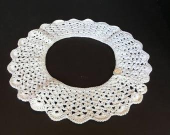 Hand crocheted collar