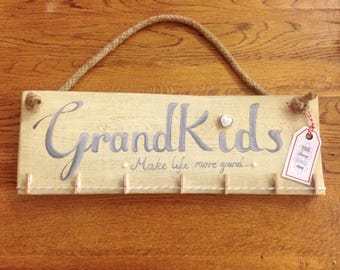 Handmade Grandkids Clothes Line Photo Sign/Gift