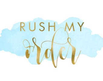 """RUSH ORDER! Add this to any """"made to order"""" Home & Baby listing!"""