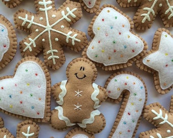 Buttercream Gingerbread Decorations-Gingerbread Ornaments-Christmas Garland-Gingerbread Garland-Christmas Decorations-Gingerbread Cookies