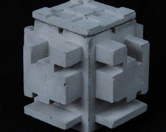 Cement Jewelry Box, Ancient Ruin #2