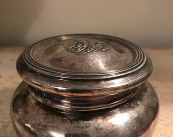 Beautiful jewelry box silver plate