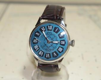 Molnija watch,1970s Russian watch,Soviet watch,Molnia pocket watch,USSR,slava,poljot,Soviet Union,vostok,Mechanical watch,raketa,mens watch