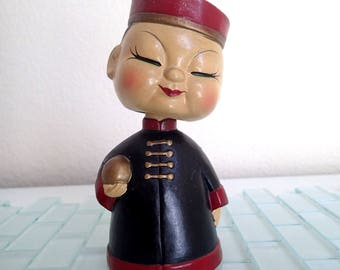 Mid Century Japanese Head Nodder Bobblehead - Japan Doll
