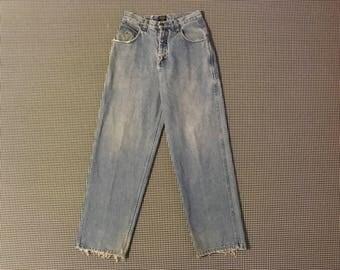 1990's, WU-WEAR, baggy, wide leg jeans, Men's size 32/32