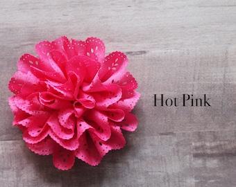 Eyelet flower in hot pink
