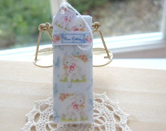 dollhouse sewing fabric bolt nursery lamb 12th scale miniature