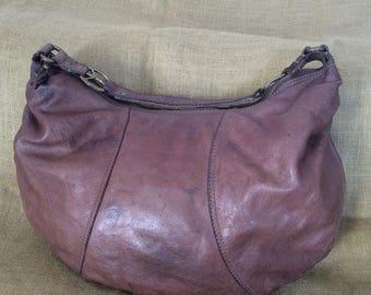 10% OFF SALE Large LUCKY Brand vintage brown hobo leather shoulder bag purse