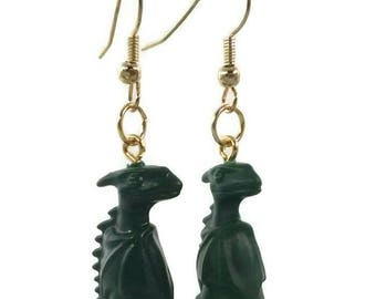 Earrings made with Lego ® Green Dragon