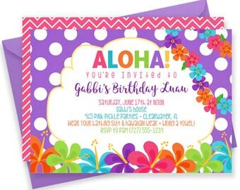 Luau Invitation, Hawaiian Invitations, Luau Birthday Invitation, Luau Party, Luau Party Invitations, Luau Invite, Luau Birthday, Luau | 465