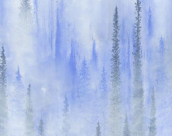 Original Dreamy Forest Painting, Abstract Ethereal Nature Art