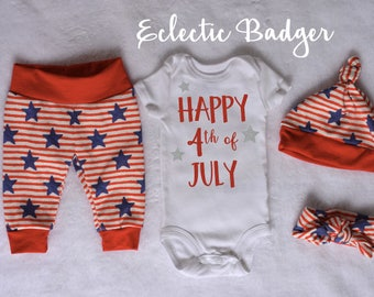4th of July baby girl outfit Independence day Coming home outfit summer Baby girl outfit July fourth Going home outfit July 4th outfit baby