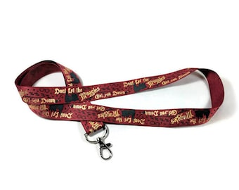 Harry Potter Lanyard, Don't Let the Muggles Get You Down,  Gryffindor ID Badge Lanyard,  Badge Holder,  Key Chain, Key Fob, Con Lanyard