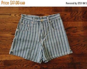 HELLO SUMMER SALE Vintage High Waist Blue Denim Shorts