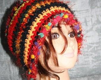 very warm fancy hat, multicolored 2