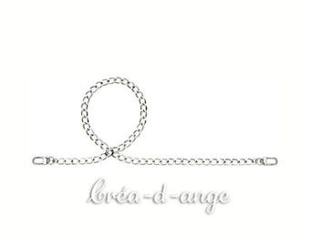 Bag handle, silver plated chain