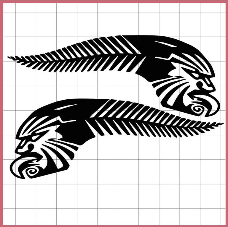 kiwi pride nz sticker silver fern maori tattoo design decals maori design car decals car. Black Bedroom Furniture Sets. Home Design Ideas