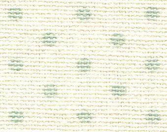 Grey Mint Green Polka Dots on Cream Fabric Sticker Sheet - Dailylike