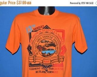 ON SALE 80s Rutland Vermont Auto Show and Flea Market t-shirt Medium
