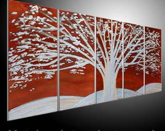 Painting a Metal Wall Art Sculpture by tomouk Contemporary Decor. Metal Sculpture wall Art orange tree