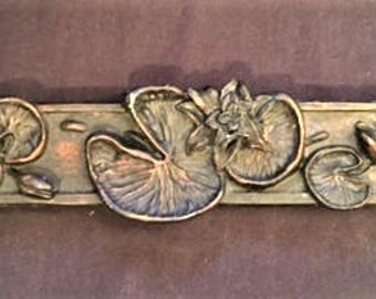 "Incense burner - resin 12"" burner with frog and dragonfly"