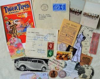 Vintage Inspired Paper Ephemera Pack, Collage Pack
