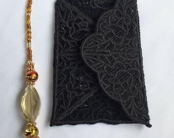 Mystic Messenger - Jaehee - Lace & Bead Bookmark