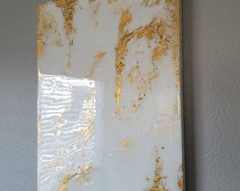 Gold textured abstract painting