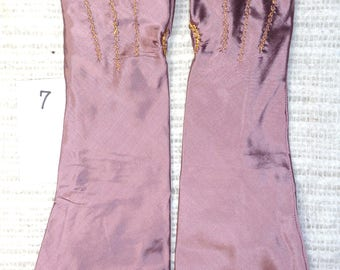 18th Century Size _7_ Ladies Colonial Silk Mitts  # 7.0.5