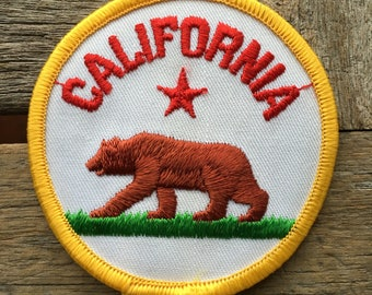 California State Flag Vintage Travel Patch