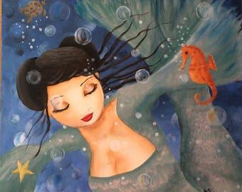 The bubbly mermaid