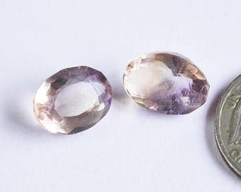 2 Pcs Natural Ametrine Healing Gemstone,Normal cut Ametrine Gemstone,Ametrine Jewelry,13x10mm,16Cts Genuine Ametrine#5793