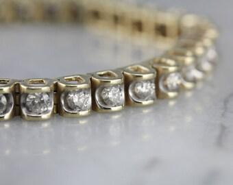 Sophisticated and Rich Vintage Diamond Tennis Bracelet TAC0YL-D