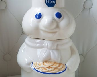 Vintage Pillsbury Doughboy Cookie Jar, 1997 Cookie Jar, Made in Thailand, Signed Benjamin & Medwin Inc. NY NE. The Pillsbury Co.