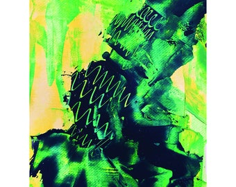 Original Abstract Painting by Ahmer Waqar - Acrylic