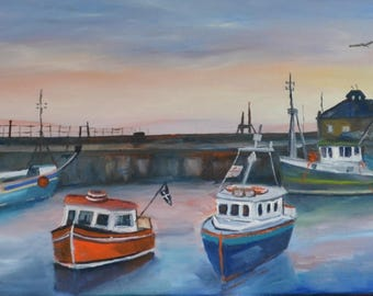 Fishing boats in Padstow harbour