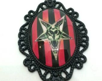 Baphomet Necklace Pendant Occult Satan Pastel Goth