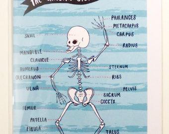 Anatomy Greetings Cards - Brain, Skeleton or Heart