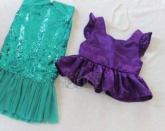 Sequin mermaid skirt Toddler  Girls mermaid skirt Mermaid tail costume little mermaid costume christmas gifts
