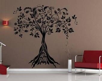Wall sticker Ornamental tree (2655n)