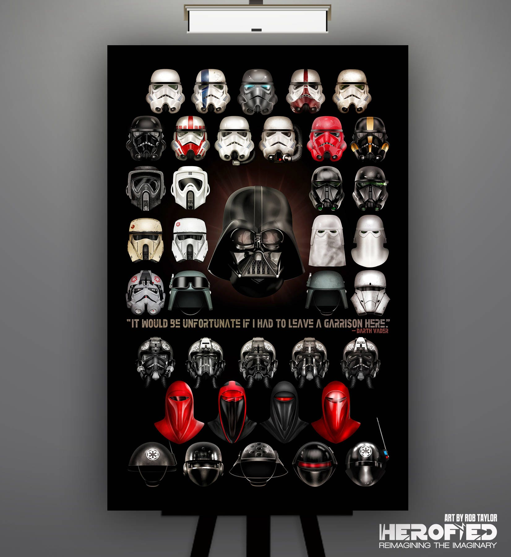 Star wars inspired imperial composite 11x17 art for Imperial printing